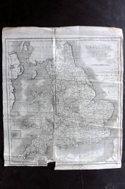 Lyttleton 1811 Antique Map. England and Wales